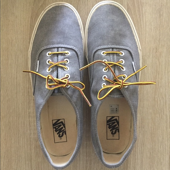 38b1eec2ee Vans for J Crew Washed Canvas Authentic Sneakers. M 5ac3d422739d48001af947fd